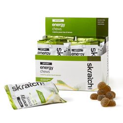 Skratch Labs Sport Energy Chews - Matcha Green Tea & Lemon (50g) - Box of 10 Pouches