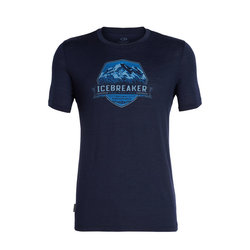 Icebreaker Tech Lite Short Sleeve Crewe Crook Crest - Men's