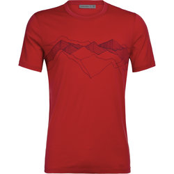 Icebreaker Tech Lite Short Sleeve Crewe Peak Patterns - Men's