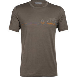 Icebreaker Tech Lite Short Sleeve Crewe Single Line Camp - Men's