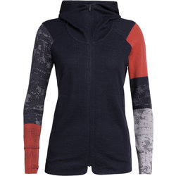 Icebreaker Away II Long Sleeve Zip Hood - Women's