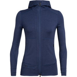 Icebreaker Quantum II Long Sleeve Zip Hood - Women's