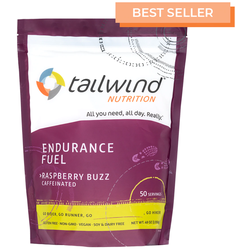 Tailwind Caffeinated Endurance Fuel - Raspberry Buzz - 50 Servings (1350g)