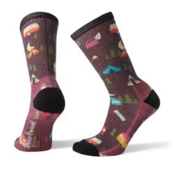 Smartwool Hike Light Summer Nights Print Crew Socks - Women's