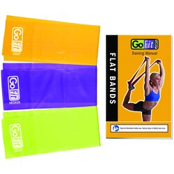 GoFit Laytex-Free TPR Flat Band Set (3)-6' Long 5