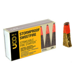 UCO Gear Stormproof Sweetfire Strikable Tinder Matches - 20 Pack