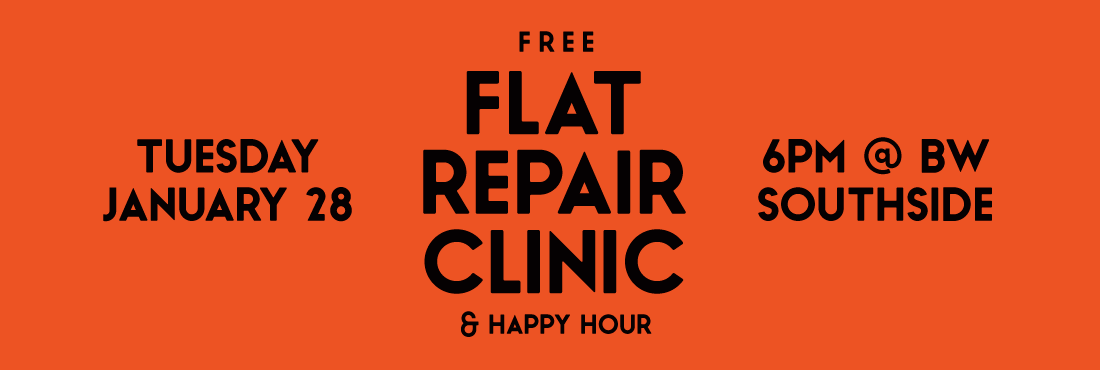 Bike World Southside Flat Tire Clinic & Happy Hour