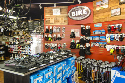 Accessories at Family Bike Shop
