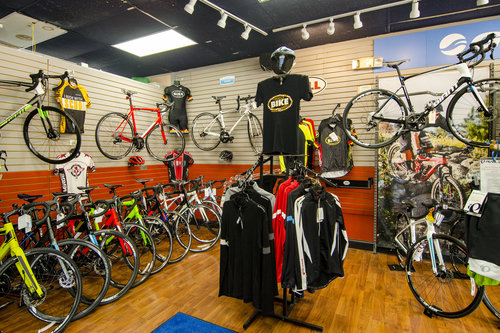Another view of the showroom at Family Bike Shop