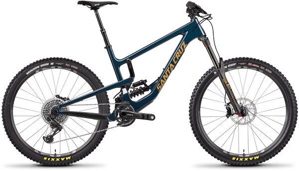 Santa Cruz Nomad X01 Carbon CC RockShox Super Deluxe Coil RCT Color: Gloss Ink and Gold
