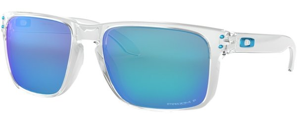 Oakley Holbrook XL Polished Clear with Prizm Sapphire Polarized