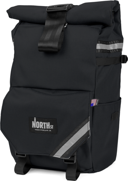 NORTH ST Woodward Pannier Backpack Color: Black