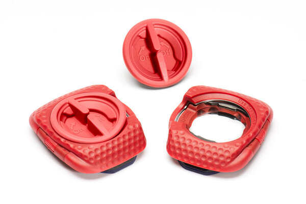 Speedplay Zero Areo Walkable Cleat - Pave (Red w/ Protector Shim Kit)