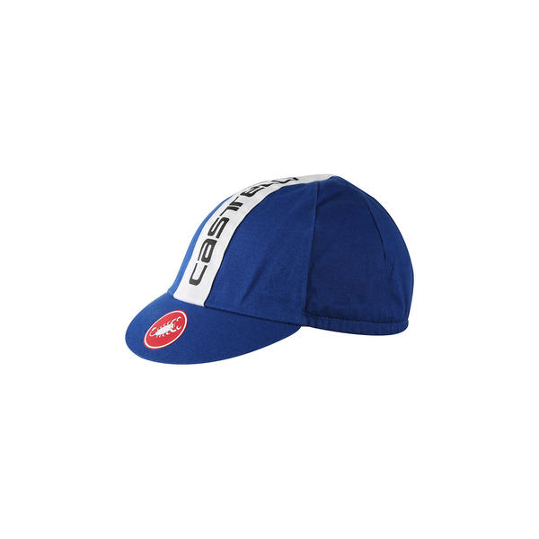 Castelli Retro 3 Cap Color: Surf Blue / White