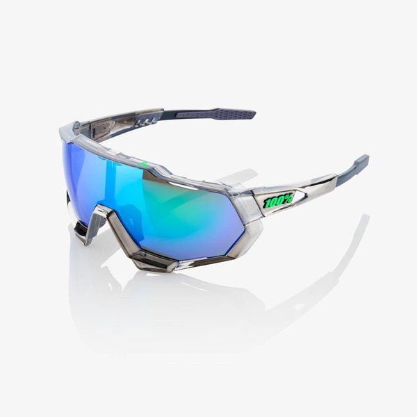 100% SPEEDTRAP Sunglasses Color | Lens: Peter Sagan Chromium Gunmetal | Green Multilayer Mirror