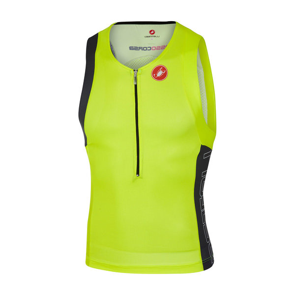 Castelli Free Tri Top Color: Yellow Fluo/Anthracite/Black