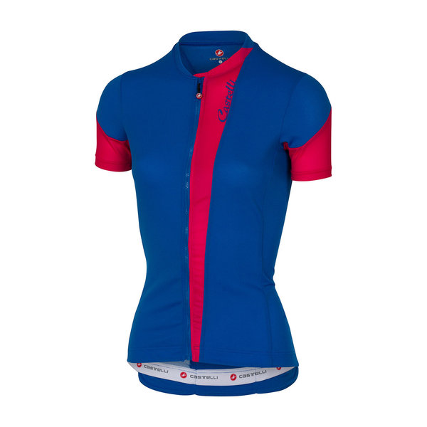 Castelli Spada Jersey FZ - Women's Color: Matte Blue/Raspberry