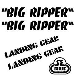 Reflx Reflective Decals SE Bikes Big Ripper