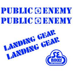 Reflx Reflective Decals SE Bikes Public Enemy
