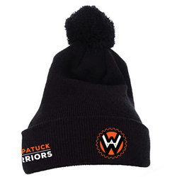 Wompatuck Warriors Black Knit Beanie / PRE-ORDER ONLY