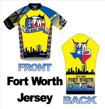 Bicycles, Inc. Fort Worth Jersey/Bike Fort Worth/We Ride Here