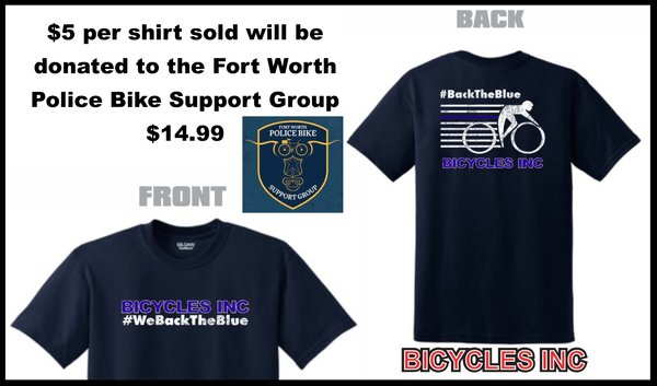 Bicycles, Inc. Bicycles, Inc. Back The Blue T Shirt