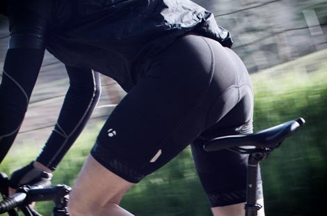 Besides the great fit and feel, cycling shorts improve your aerodynamics, too!