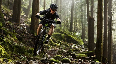 You'll float over the rough stuff in comfort and control on your full-suspension bike!