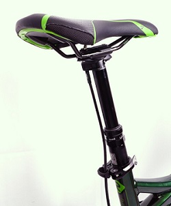 Adjustable seatposts let you lower and raise your seat while you ride!