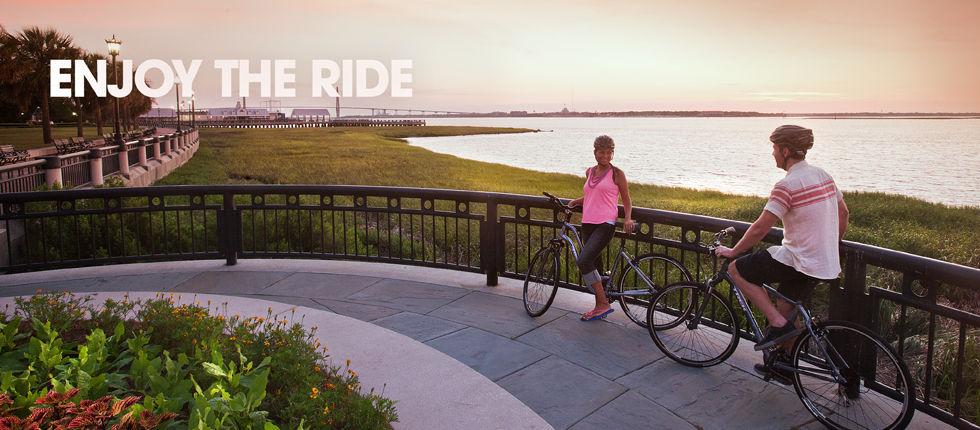 Hybrids and Comfort bikes love dirt roads, too!