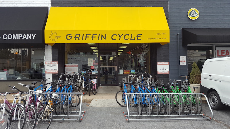 Griffin Cycle storefront link to location page