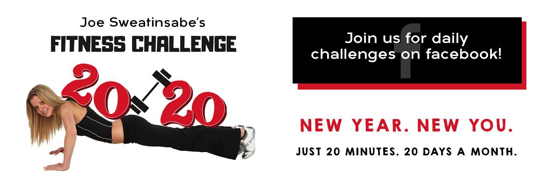 Join Joe Sweatinsabe's 20/20 Fitness Challenge