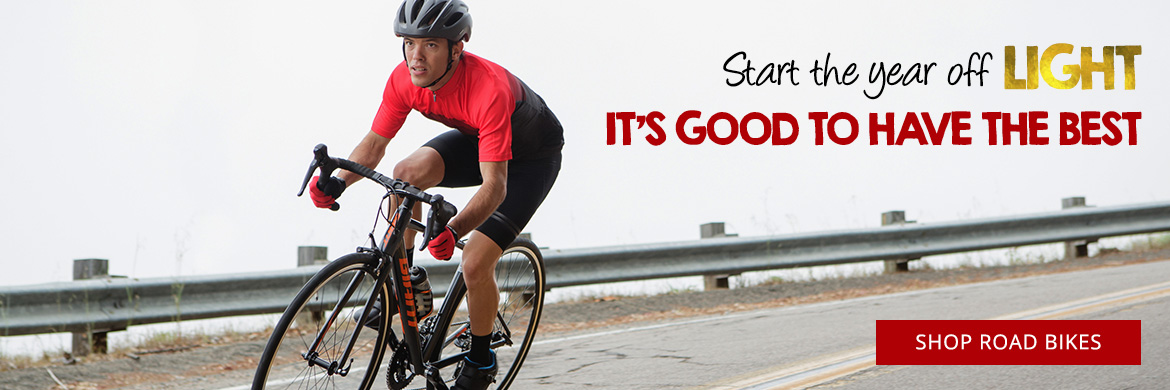 Start the year off light with road bikes