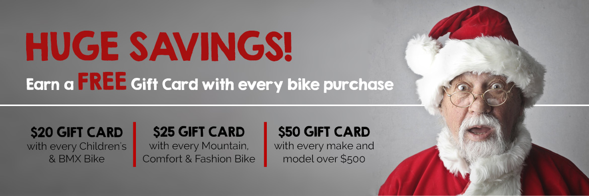 Earn a gift card with every bike purchase!