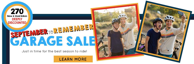 Shop the September to Remember Garage Sale!