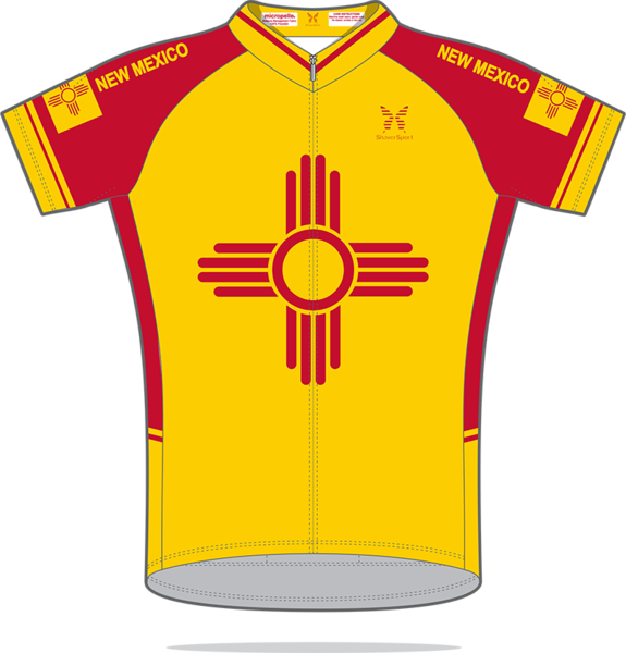 ShaverSports New Mexico Yellow Bicycle Jersey