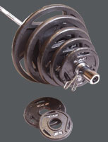 Cap Barbell 300 lbs Olympic Weight Set with Gripper Handles