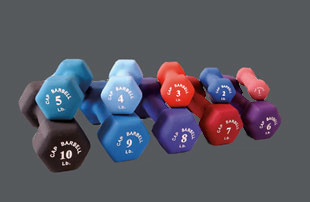 Cap Barbell Neoprene Coated Dumbells