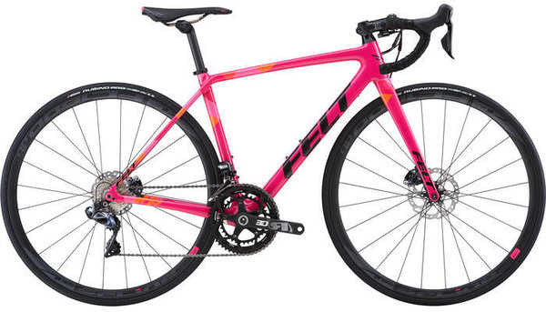Felt Bicycles FR2W DISC Color: Yarrow Pink/Fire Facet TeXtreme