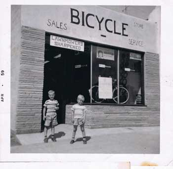 Opening Day at Don's Bicycle Shop in 1959