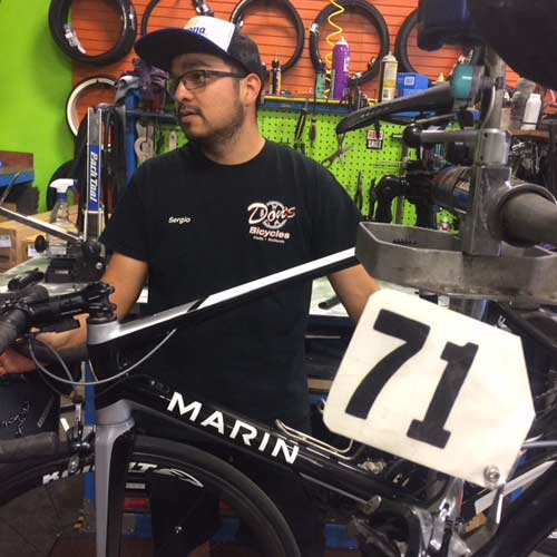 Sergio Zavala of Don's Bicycles