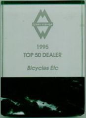 Bicycles Etc. Jacksonville Florida Top 50 Gary Fisher Dealer Dealer 1995
