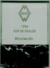 Bicycles Etc. Jacksonville Florida Top 50 Gary Fisher Dealer Dealer 1996