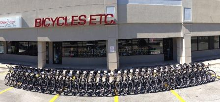 32 Custom Trek Mamba 29'er bicycles built by Bicycles Etc. for the Jacksonville Fire & Rescue Department. Don't they look great!