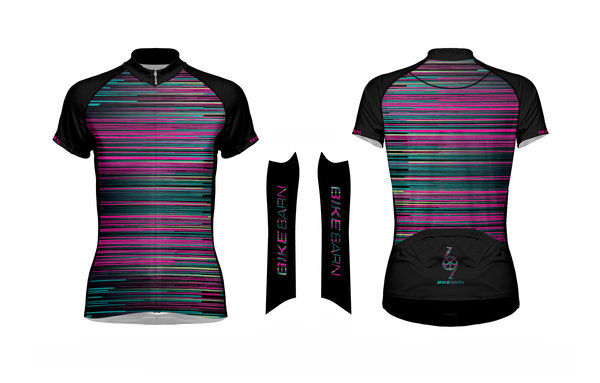 Bike Barn Bike Barn Stripes Women's Jersey