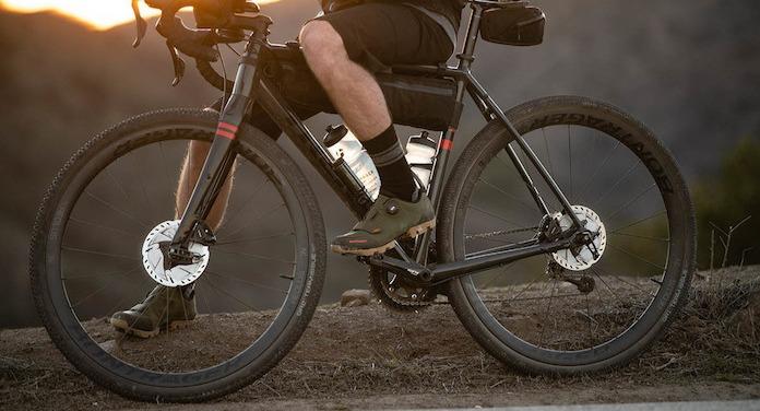 Boy riding on commuter bike