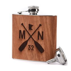 Sota Clothing Wooden Flask