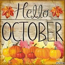 Hello October graphic
