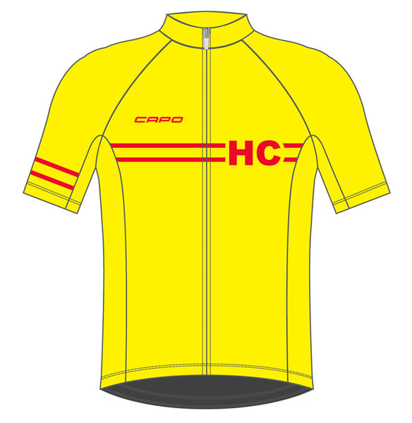 Helen's Cycles/I. Martin Bicycles Capo Retro 80 Year Jersey - Yellow