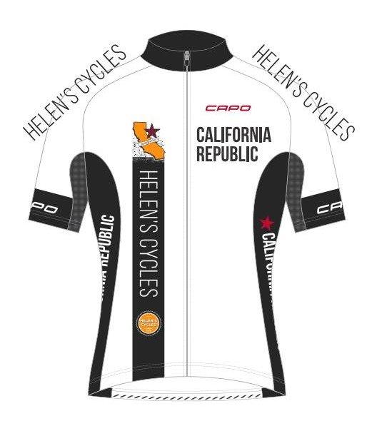 Capo Helen's Cycles California Republic Ocean-Mountain-Desert Corsa Jersey